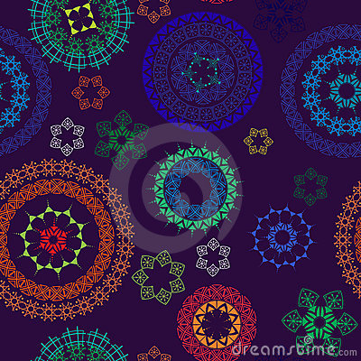 Seamless Abstract Henna Paisley Background Royalty Free Stock Photos - Image: 12754158