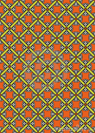 Seamless abstract medieval vector pattern