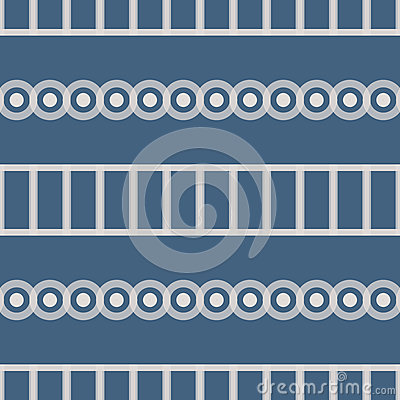 Seamless Abstract Pattern from Rectangles and Circles Stock Photo