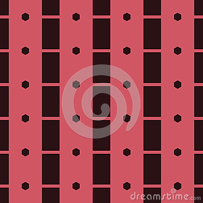 Seamless Abstract Pattern from Rectangles and Hexagons Stock Photo