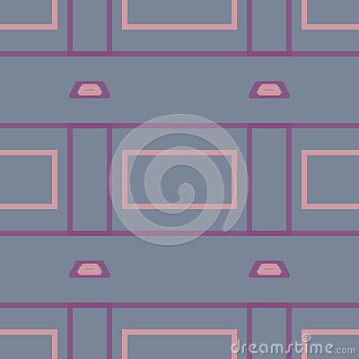 Seamless Abstract Pattern from Rectangles Stock Photo