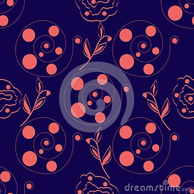 Seamless-abstract-purple-background-of-pink-circles-in-a-spiral Vector Illustration