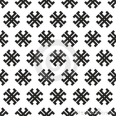Seamless abstract  tribal cross texture