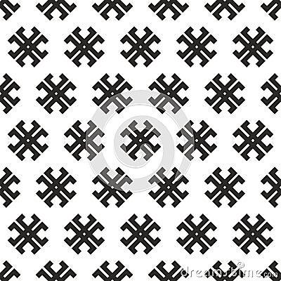 Seamless abstract  tribal cross texture
