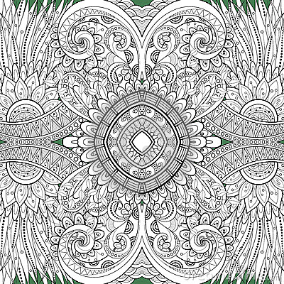 Free Seamless Abstract Tribal Pattern (Vector) Royalty Free Stock Image - 51837876