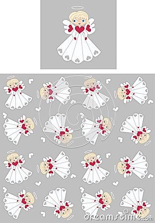 seamless angel pattern