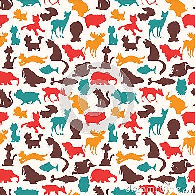 Free Seamless Animal Pattern Royalty Free Stock Photography - 16436667