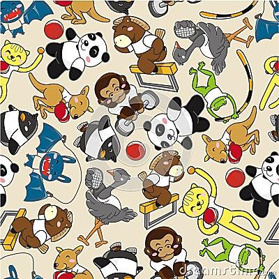 Seamless animal sport pattern