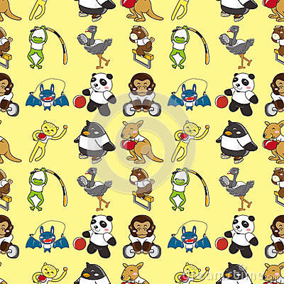 Seamless animal sport pattern