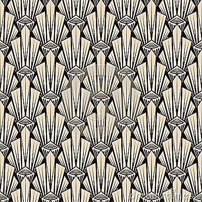 Seamless antique pattern ornament. Geometric art deco stylish ba Vector Illustration