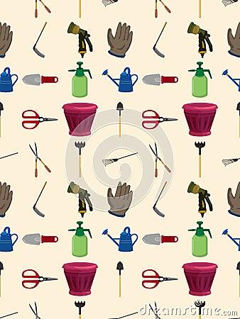 Seamless arbeta i trädgården mönstrar