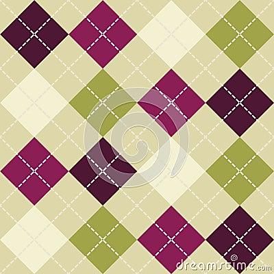 Seamless argyle pattern