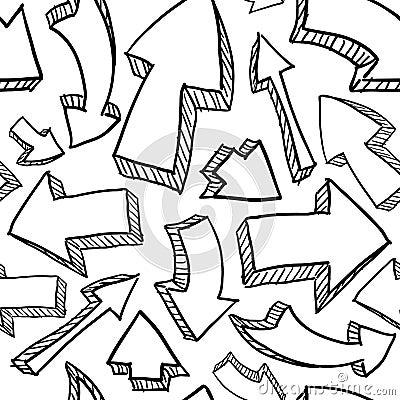 Seamless arrows background