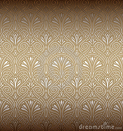 Free Seamless Art Nouveau Pattern Stock Photography - 18518812