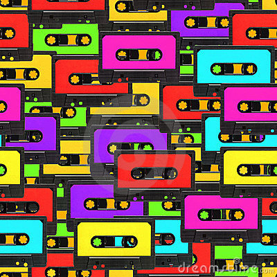 Free Seamless Audio Tape Background Stock Photography - 23153082