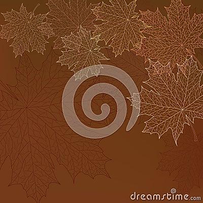 Seamless autumn leaves pattern