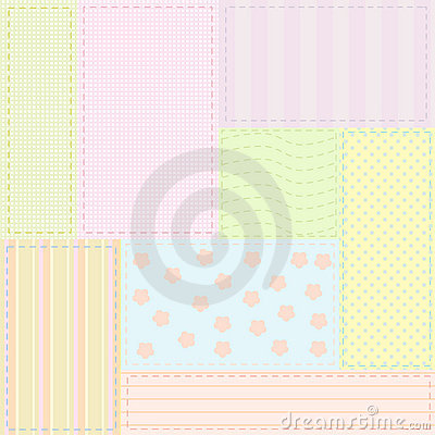 Seamless baby patchwork pattern