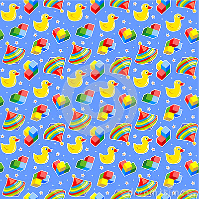 Seamless baby toys background