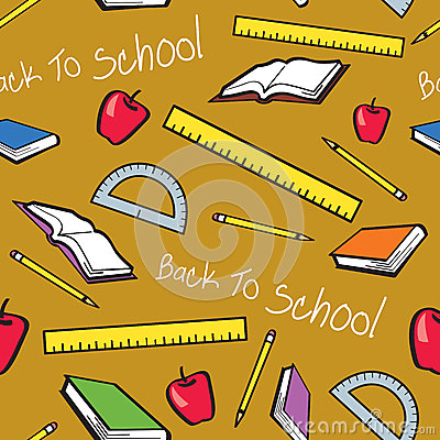 Seamless Back To School Pattern