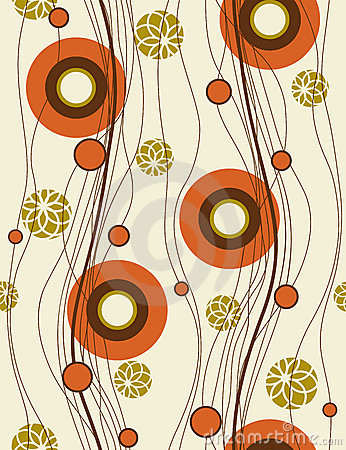 Seamless background with abstract poppies.