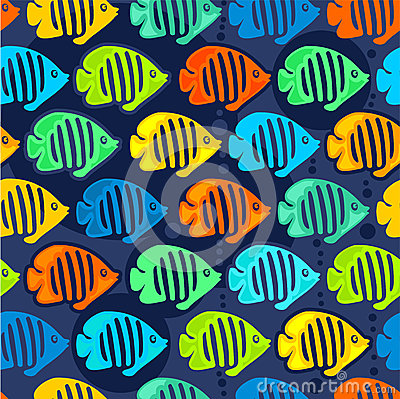 Seamless background, angel fish