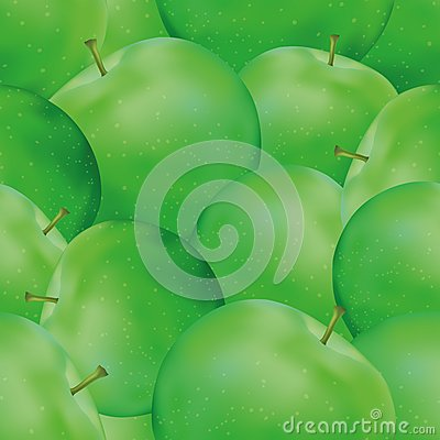 Seamless background, apples