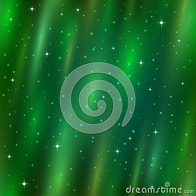 Seamless background, Aurora Borealis