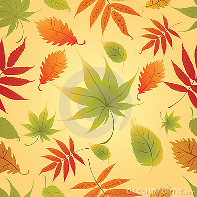 Seamless Background - Autumn Leaves. Thanksgiving