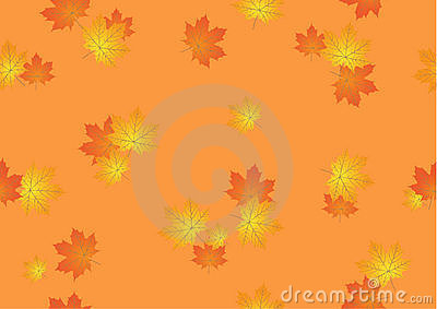 Seamless background from autumn maple leaves