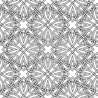 Seamless background from Celtic ornaments