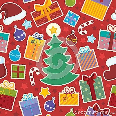 Seamless background Christmas