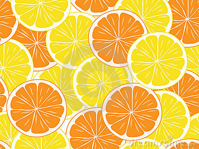 Seamless background of citrus  slices.
