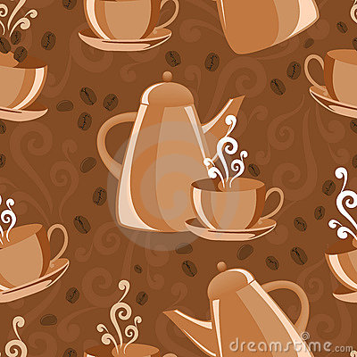 Seamless background coffee theme