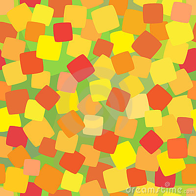 Seamless background with coloured squares