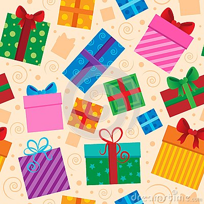 Seamless background gift theme