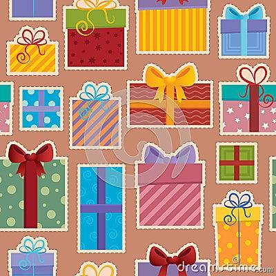 Seamless background gift theme