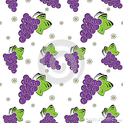 Seamless background with grapes