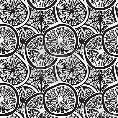 Seamless background with   lemon slices
