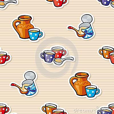 Seamless background - milk and condensed milk