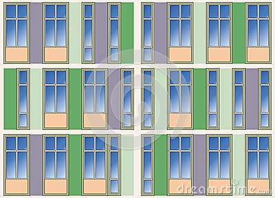 Seamless background of modern building facade