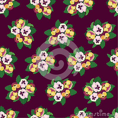 Seamless background with multicolor flowers