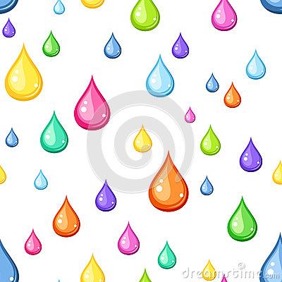 Seamless background with multicolored drops.