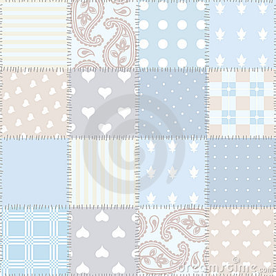 Seamless background patchwork