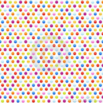 Seamless background pattern with multicolored dots