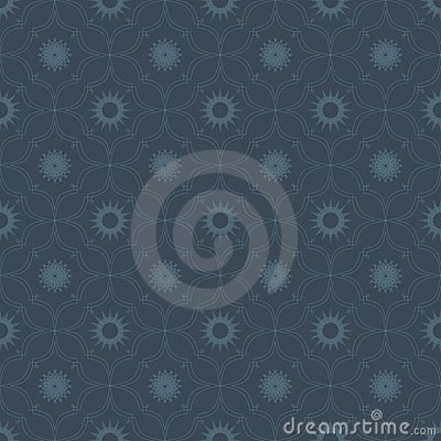 Seamless background pattern with symmetrical eleme