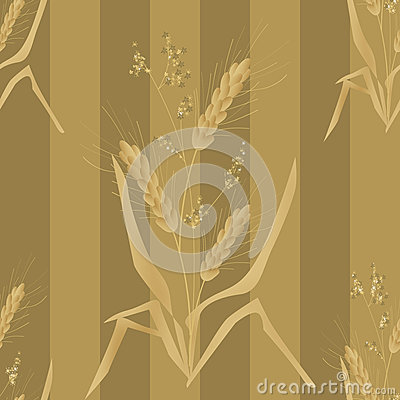 Seamless background pattern with wheat ears