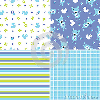 Free Seamless Background Patterns In Blue And Green Royalty Free Stock Images - 36422699