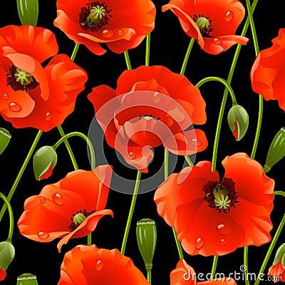Free Seamless Background: Poppy Stock Photo - 13518830