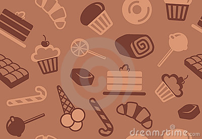 Seamless background of sweets
