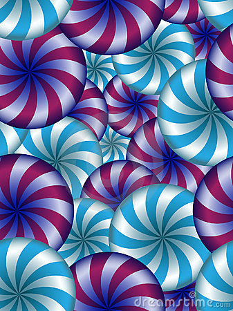 Seamless  background with turning umbrellas